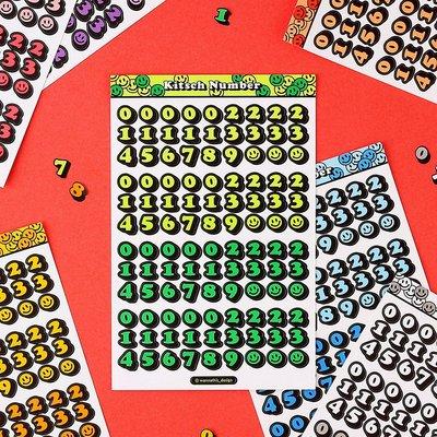❅PAVEE❅韓國wannathis~ Kitsch Number 咕卡手帳手機 3D立體字型裝飾貼紙~ 數字