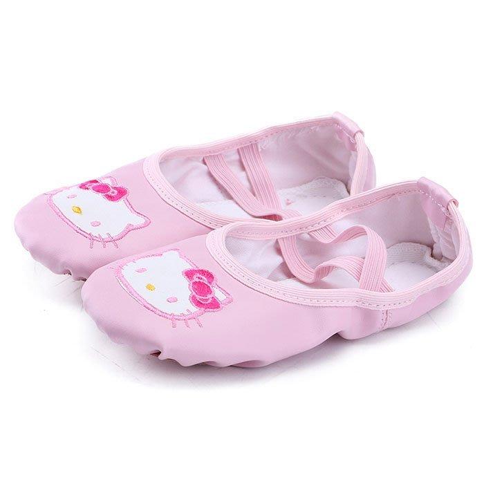 5Cgo【鴿樓】含稅會員有優惠 560744135380 兒童舞蹈鞋女童軟底可愛PU皮粉色貓咪貓爪鞋透氣幼兒演出練功芭蕾