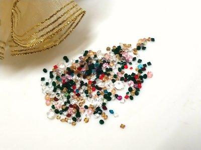 彩色透玻璃尖底鑽1-6mm(10克20元)水晶-補鑽-玻璃鑽-平底鑽-貼鑽-水鑽--指甲貼-手機-美甲12牛手創 高雄市