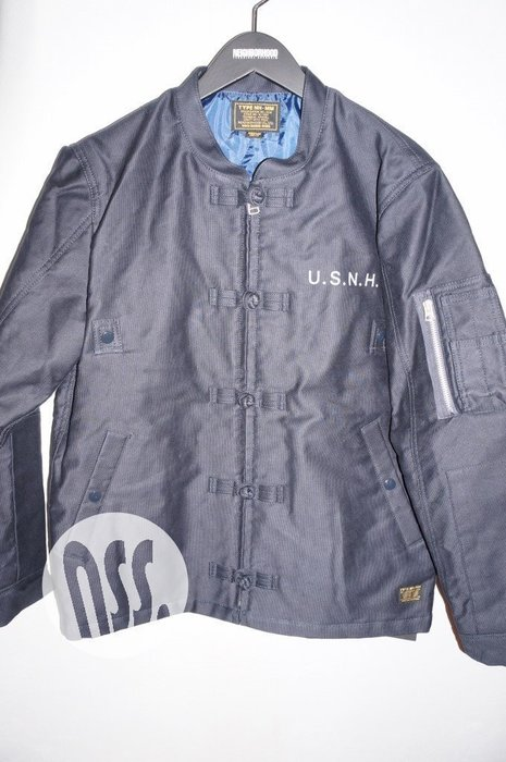 「NSS』NEIGHBORHOOD 17 K-1D C-JKT 中國風 外套 黑 藍 M
