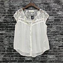 Maple麋鹿小舖 Abercrombie&Fitch * A&F 白色雪紡蕾絲上衣 * ( 現貨XS/S/M號 )