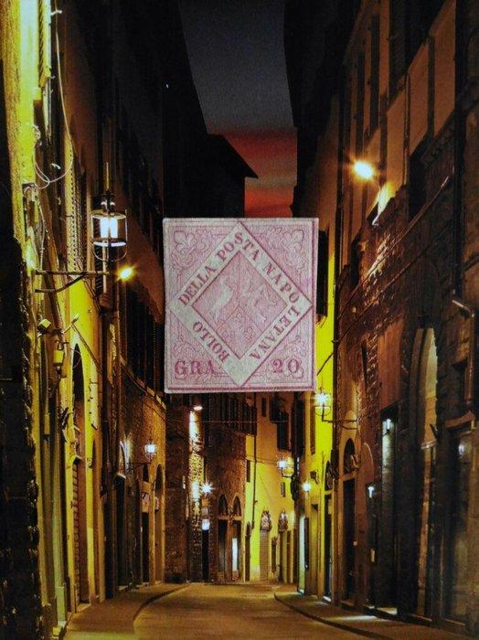 (特典!極品珍藏!) 義大利 兩個西西里島(那不勒斯) 1858年(首套郵票).Napoli # 6. 20gr MNG