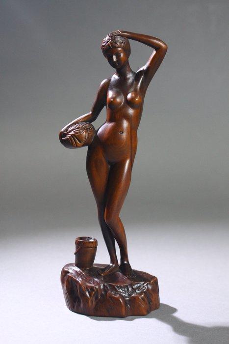 悅年堂 --- 黃楊木 雕 裸女 像