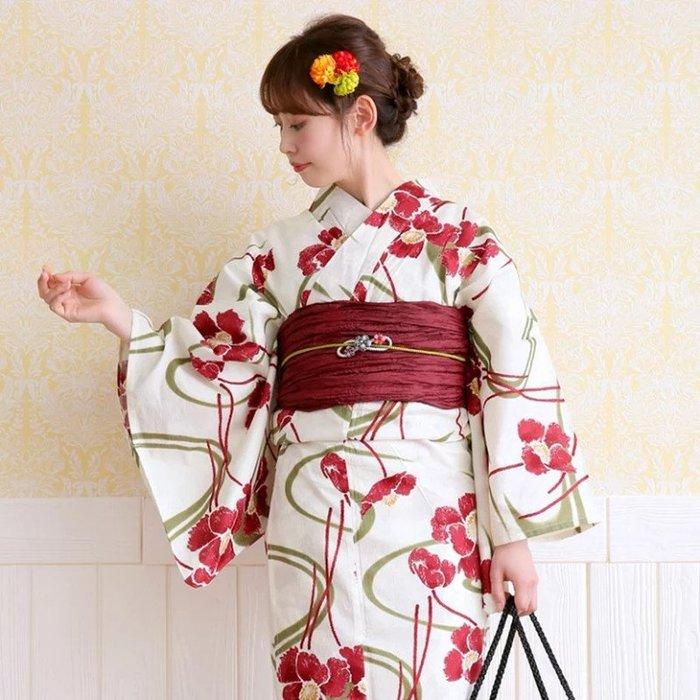 02日本新款傳統正裝和服浴衣 日系復古攝影寫真服裝 旅遊用棉