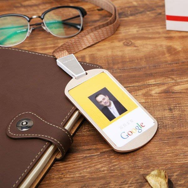 5Cgo【批發】含稅會員有優惠 537109214855 鋁合金高級工作證件套員工牌胸牌胸卡套金屬卡套IC卡套-20個