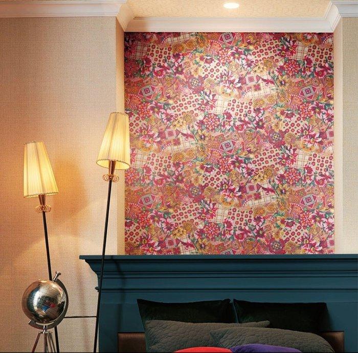 【Uluru】日本進口壁紙 歐式風格 強烈色彩 壁紙 日本製