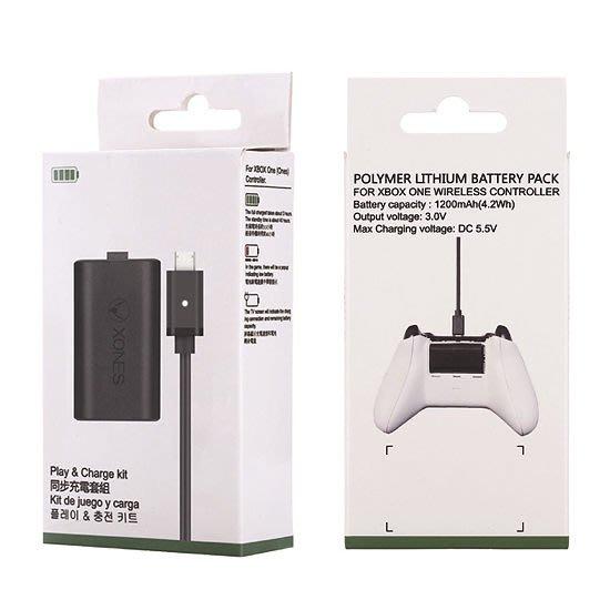[哈GAME族]全新 輕鬆充電不掉電 XBOX ONE MICREAL 副廠 同步充電套件 電池 1200mA