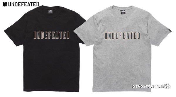 【 超搶手 】全新正品 A/W 秋季新款 UNDEFEATED 10 TEE 字體  黑 白 灰 寶藍 S M L