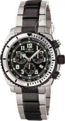 展示品 Invicta 0816 Specialty Quartz Chronograph Date Tachymeter Black Mens Wa