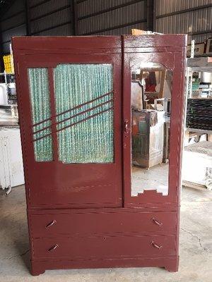 彰化二手貨中心(原線東路二手貨) ----- 早期收藏半檜木衣櫥  半檜木衣櫃