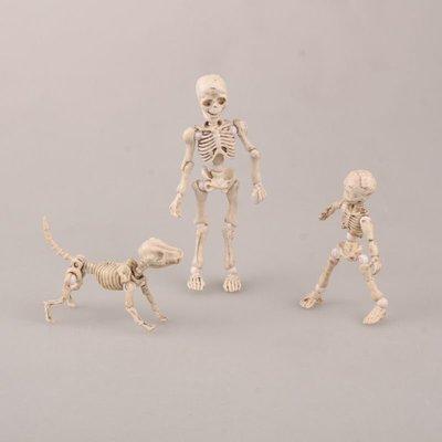 【紫色風鈴】Pose Skeleton Q版3款體關節 可動 骷髏頭 手機挂件盒裝港版 無證