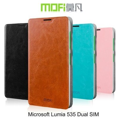 *PHONE寶*MOFI Microsoft Lumia 535 Dual SIM 睿系列側翻皮套 保護套 手機套 可立