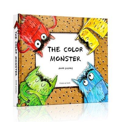 點讀版英文原版The Color Monster我的情緒小怪獸怪物故事繪本popup立體書童書3-9歲好習慣培養顏色情商