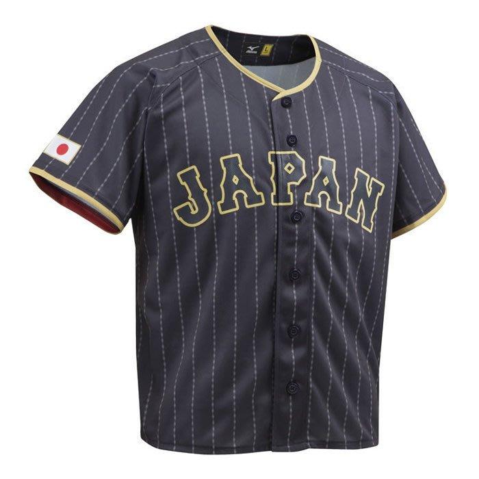 【日職嚴選】**現貨**2017日本職棒 WBC 武士侍者 日本隊 MIZUNO  燙印 無背號 客場球衣T