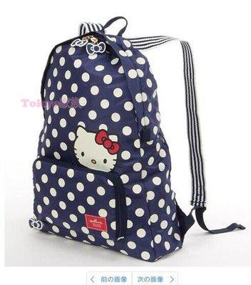 東京家族 kitty 點點藍色 後背包