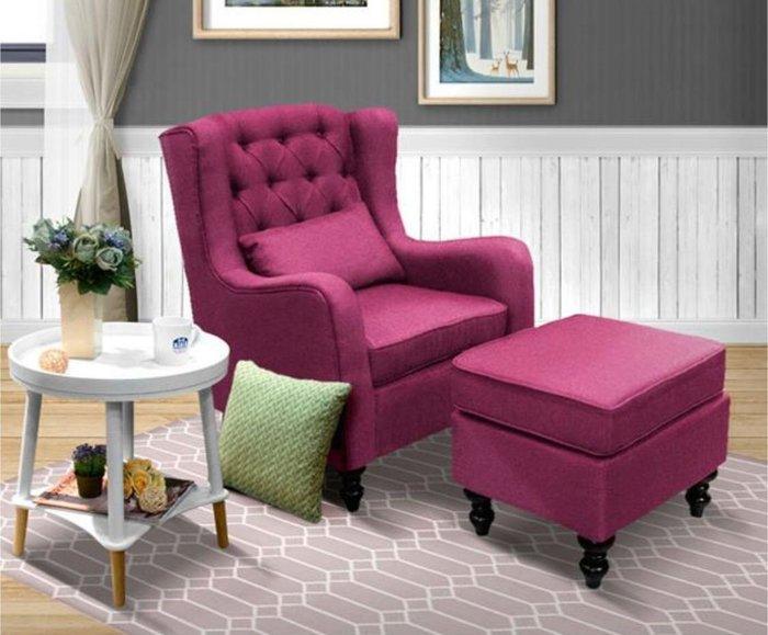 主人椅  環扣休閒椅+腳凳鄉村風/英式古典沙發