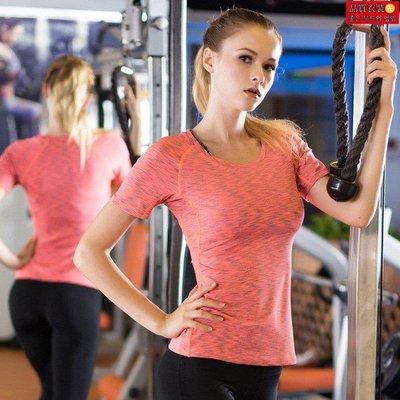 直購-女士PRO 運動健身瑜伽訓練 緊身彈力速幹短袖衫迷彩T恤衣服5003