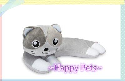 ~Happy Pets 喵喵館~Brandish Living 浩創最濛最可愛的 熊抱貓 貓草玩具(灰色款)