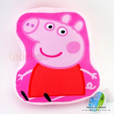 【UNIPRO】Peppa Pig 佩佩豬 QQ彈力 抱枕 午安枕 靠枕枕 正版授權 英國卡通 粉紅豬小妹