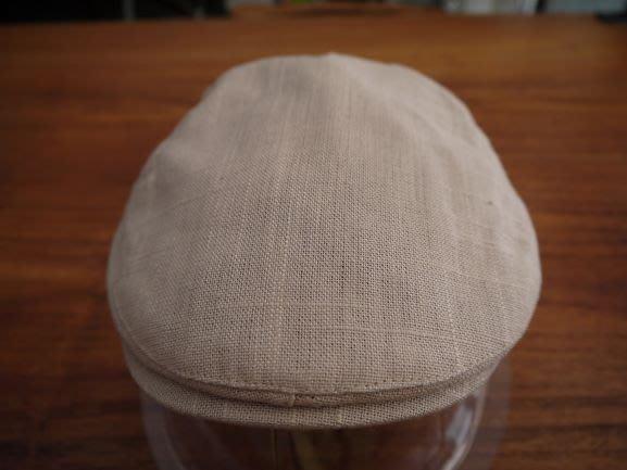 文藝風刺繡縫線狩獵帽(卡其色)