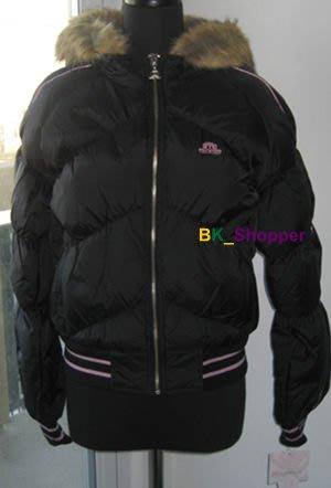 【美衣大鋪】☆Jennifer Lopez 自創品牌 JLO ☆黑色雙面保暖毛領連帽夾克