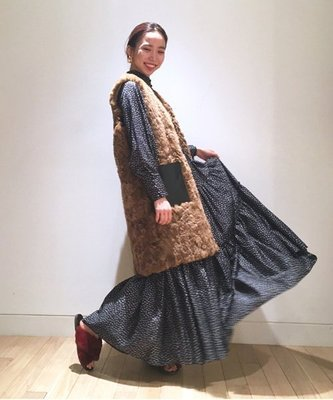 |The Dood Life|Ray BEAMS / 浪漫波希米亞  古董宮廷袖 小碎花 天絲棉 長洋裝