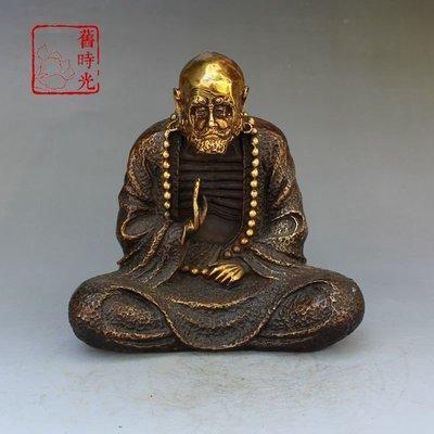 達摩擺件禪宗達摩祖師坐禪懺悟達摩 佛像  舊時光仿古擺件172