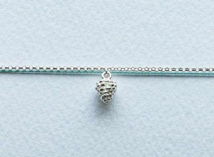 [Le Bonheur Line] 幸福線 手工/鏈繩款 925純銀 松果 /手鍊 飾品 可愛 設計 精緻 松鼠 禮物