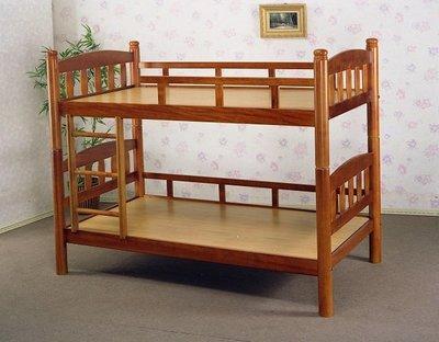 【全台家具批發網】GS-20 柚木 直板圓柱 3.5尺雙層床 台灣製造 傢俱工廠直營特賣