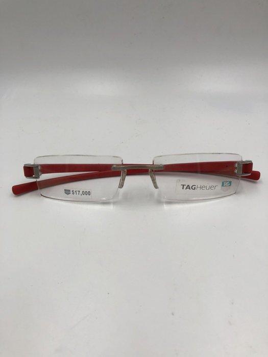 頂傑 TAG HEUER  經典紅色無框眼鏡 - TH 7103-003