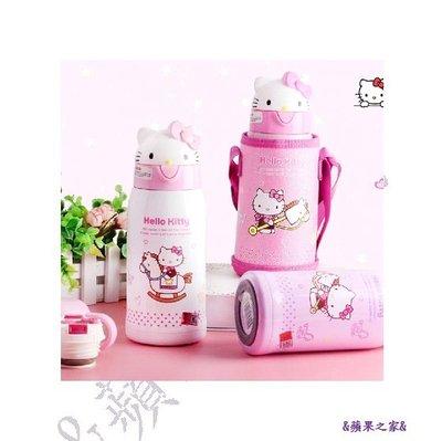 &蘋果之家&現貨-萌噠噠!正版Hello Kitty 316不鏽鋼保溫水壼-1杯2蓋喔!