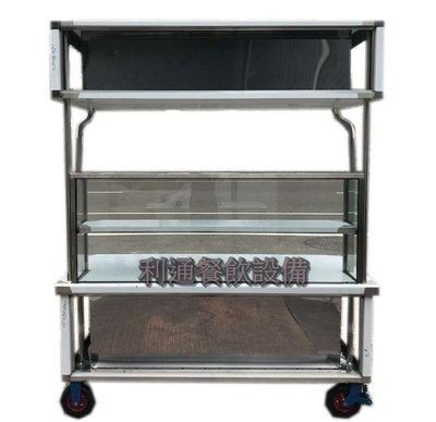 《利通餐飲設備》AE-(B02) 平面車仔台 燈箱型 玻璃吧台 攤車 車仔台 移動式攤車