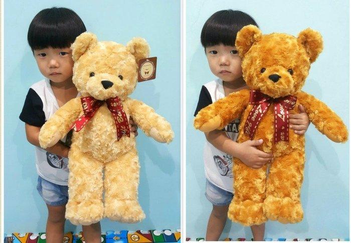 可愛泰迪熊娃娃~玫瑰泰迪熊~高約48cm~捲毛泰迪熊~最受歡迎玩偶