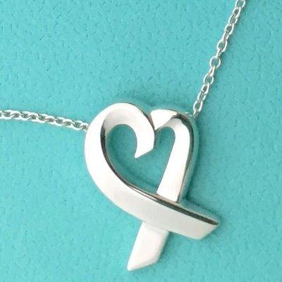 專櫃真品Tiffany&co經典Loving heart 心形項鍊 9成新