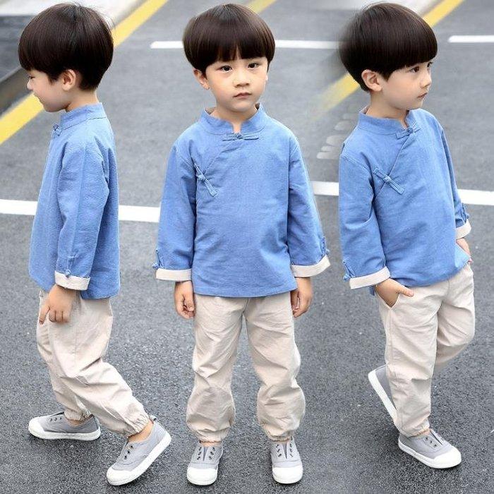 漢服童裝兒童唐裝男童套裝中小童中國風寶寶春秋季周歲禮服民族風
