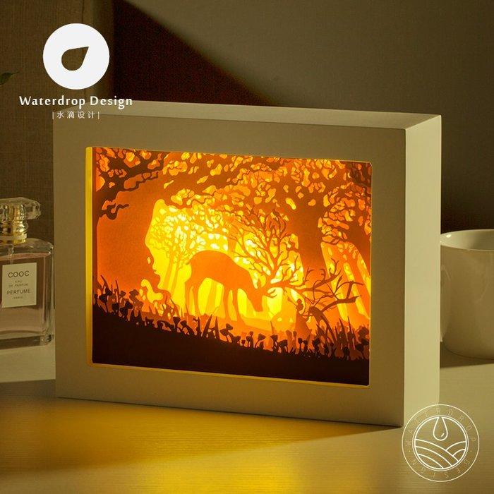 解憂zakka~ 光影紙雕燈 獸神 3D客廳臥室床頭裝飾DIY創意簡約現代浪漫LED#禮物#紙雕燈