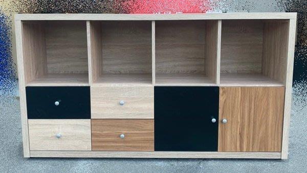 台中二手家具買賣 推薦 樂居中古傢俱館 YS831CH*米奇5尺多功能置物櫃 書架*櫥櫃 收納櫃 新莊樹林蘆洲林口內