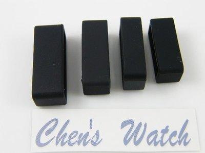 【錶帶家】黑矽膠錶帶圈固定環錶帶環固定圈14mm16mm18mm20mm22mm24mm26mm28mm30mm皮帶環