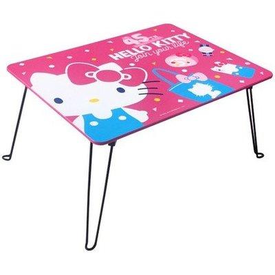 限時優惠~正版木製 Hello Kitty 折疊桌 和室桌 茶几 電腦桌KT-630059【羅曼蒂克專賣店五館】