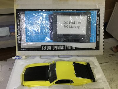 FRANKLIN MINT 1/24 1969 FORD BOSS 302 MUSTANG YELLOW (KWA)