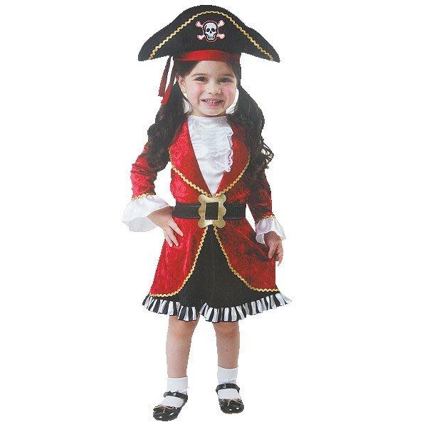 X射線【W380107】豪華小女海盜,化妝舞會/角色扮演/尾牙表演/萬聖節/聖誕節/兒童變裝/cosplay