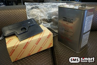 「SMS Smart」TOYOTA PREVIA 正廠變速箱油濾網組(含濾網+墊片+4L 原裝鐵桶油)