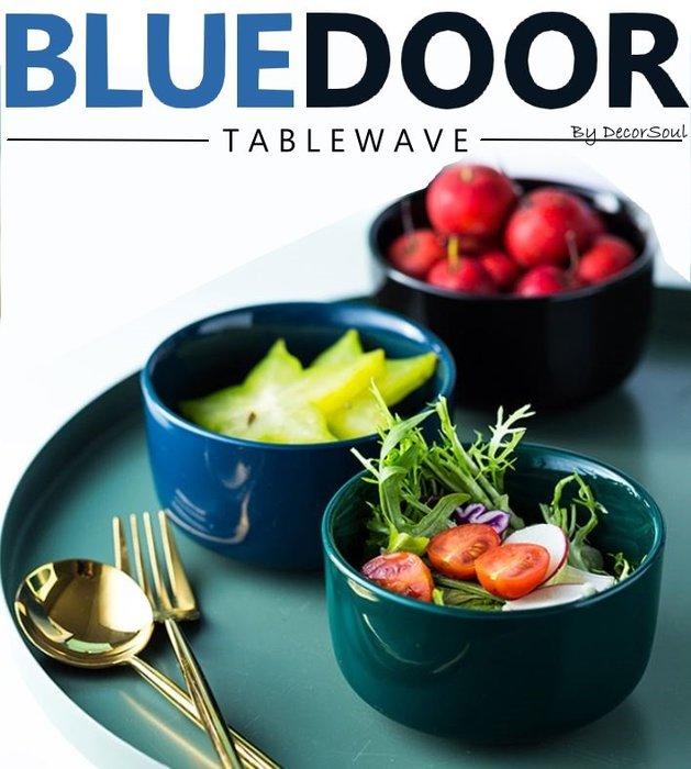 BlueD_ 亮光 碗 4.5吋 大 飯碗 湯碗 陶瓷碗 歐式 北歐創意設計裝潢 新居入遷 送禮 沙拉碗 亮面 小資族