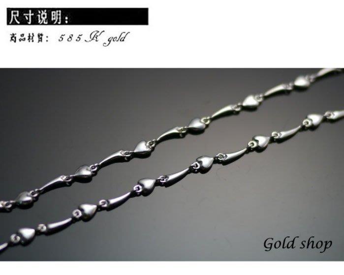晴日小舖 gold 585 白K金 項鍊 長度45公分 [ kn 030 ]-重1.47錢