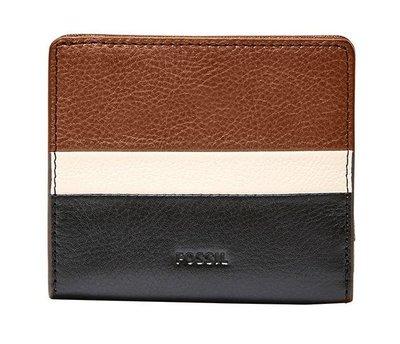 【現貨在台】FOSSIL SL7689994 黑/白/褐RFID 真皮短夾