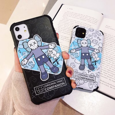 3044 KAWS 情侶手機電話殼新IPHONE 11 PRO 6 7 8 X PLUS XS XR MAX