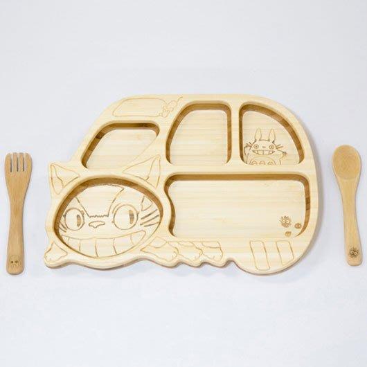 現貨不必等 日製 宮崎駿 龍貓 TOTORO 龍貓公車 造型 餐盤 餐具組 兒童幼兒餐具組 4562364813185c