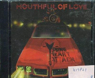 *真音樂* YOUNG HEART ATTACK / MOUTHFUL OF LOVE 二手 K17921 (封面底破)