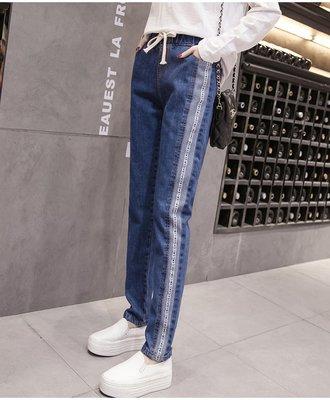 适合胖女孩穿的裤子韩版显瘦学生bf胖妹牛仔裤女宽松胖mm大码新款
