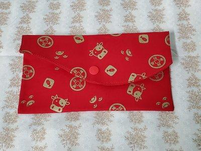 紅包袋/存摺袋-黃金牛-紅色